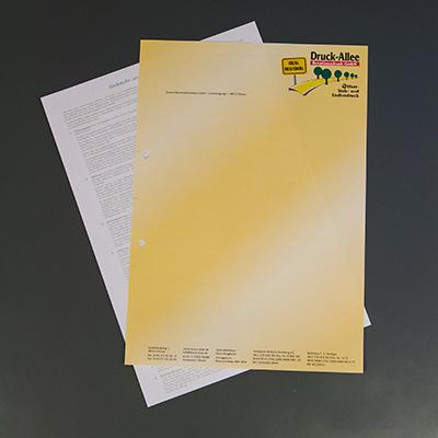 Briefbogen mit Rückseite Briefpapier
